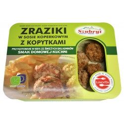 Zraziki w sosie koperkowym z kopytkami [420 g]