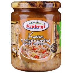 Kasza z wieprzowiną i sosem warzywnym [480g]